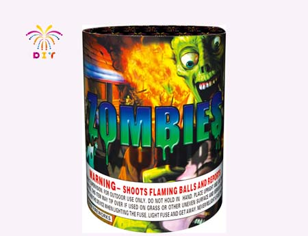 ZOMBIES 10S CAKE FIREWORKS