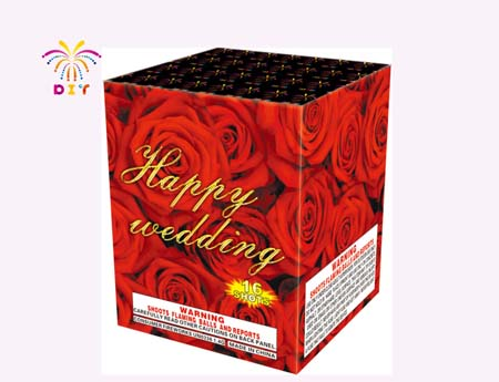 HAPPY WEDDING 16S CAKE FIREWORKS