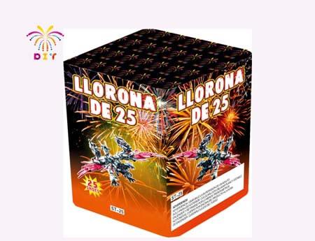 LLORONA DE 25 CAKE FIREWORKS