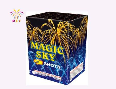 MAGIC SKY 25S CAKE FIREWORKS