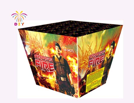 CROSS FIRE 64S CAKE FIREWORKS