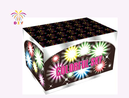 COLORFUL SKY 50 CAKE FIREWORKS