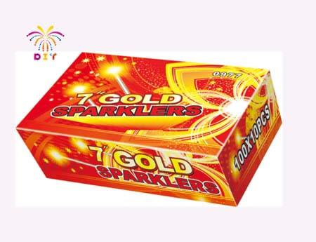 """7""""GOLD SPARKLERS"""