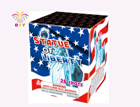 STATUE OF LIBERTY 25S CAKE FIREWORKS