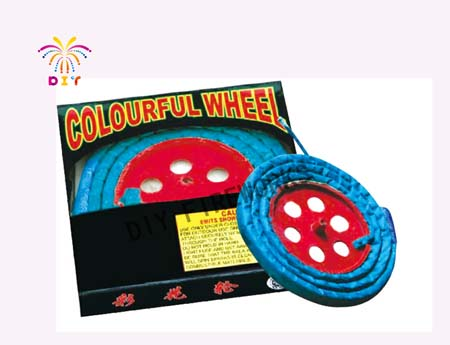 COLOURFUL WHEEL FIREWORKS